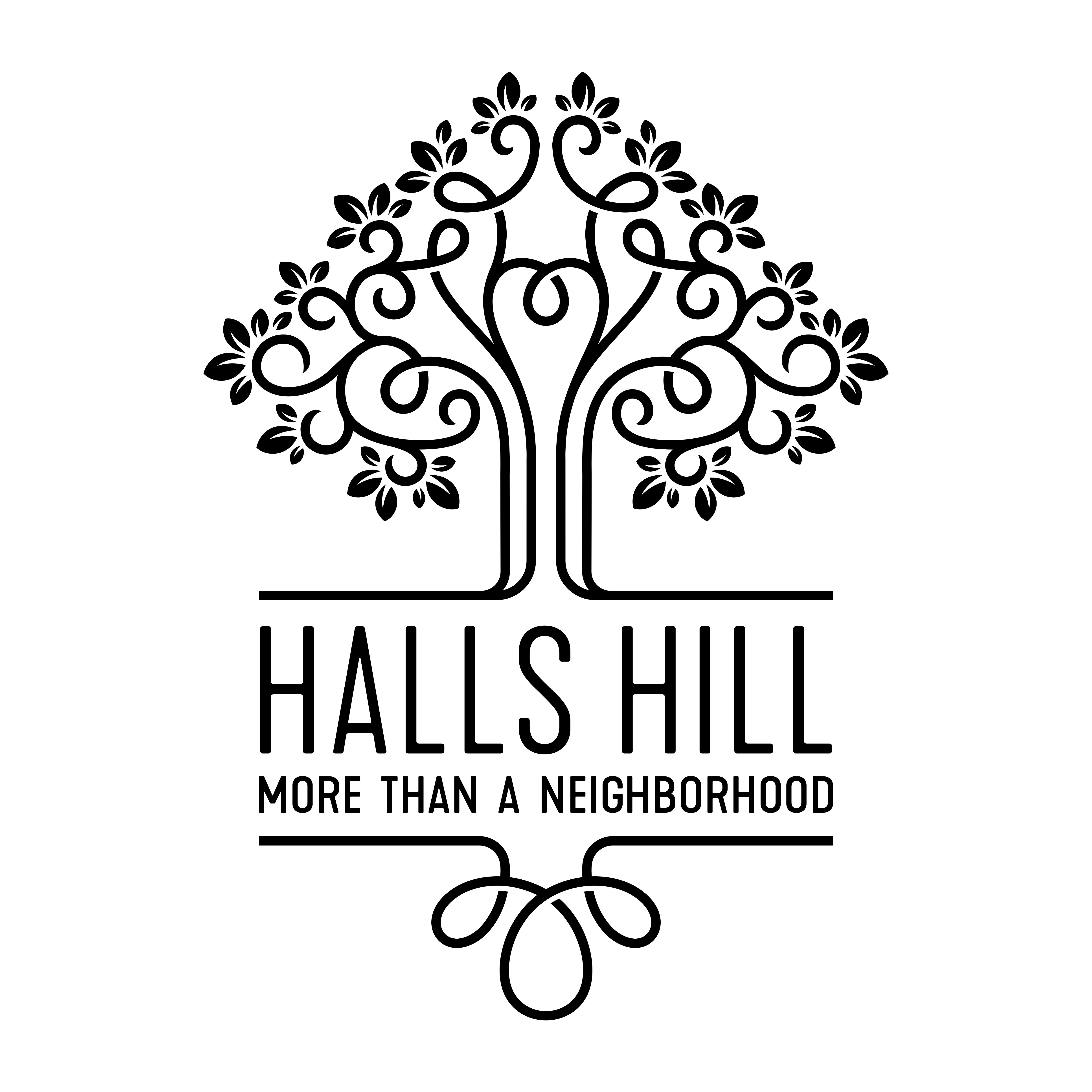 My Halls Hill Family Logo Black