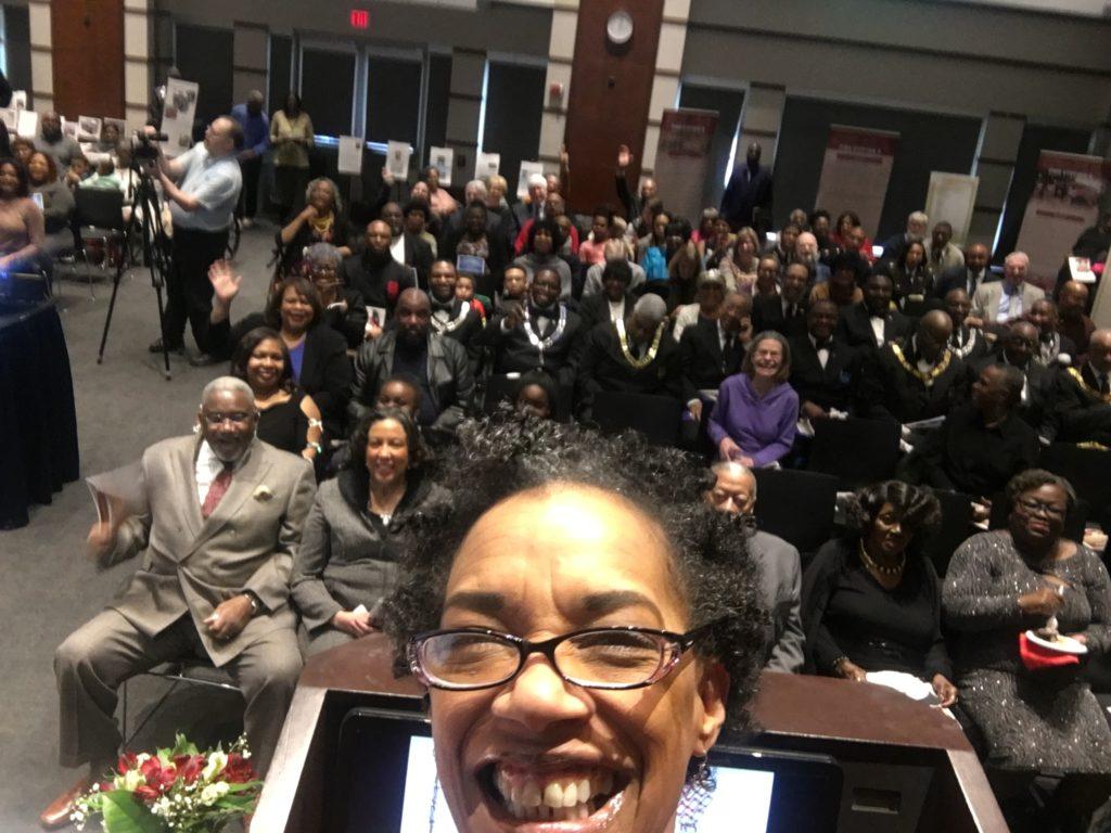Wilma at FS8 100th anniversary gala selfie