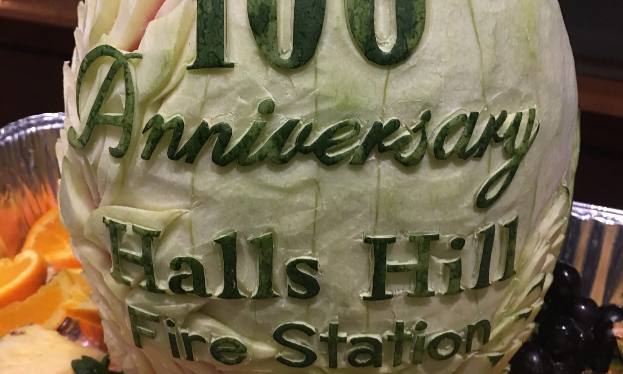 halls hill watermelon carving fire station 8